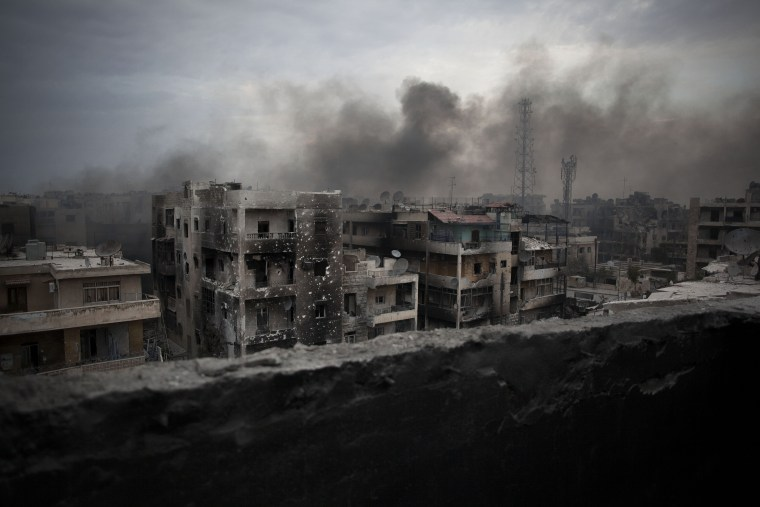 IMAGE: 2012 bombing of Aleppo