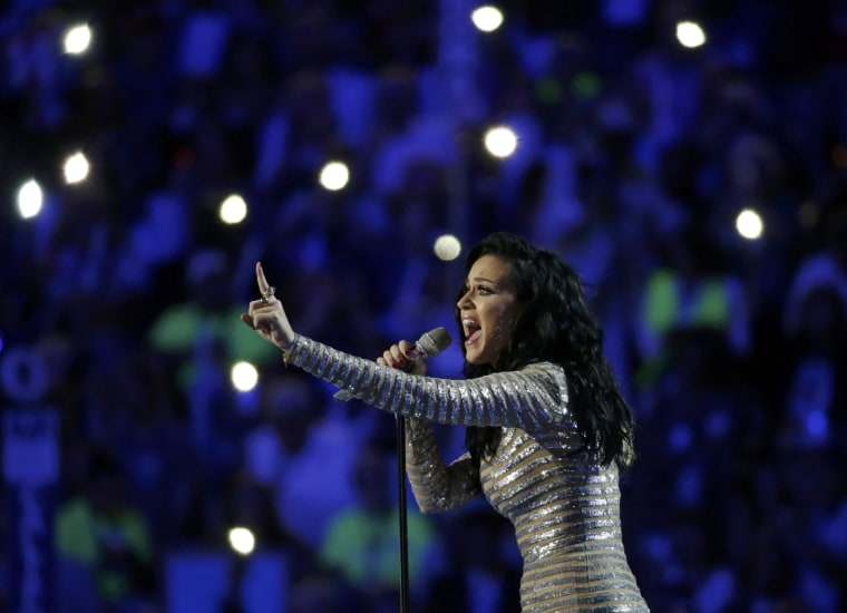 Image: Singer Katy Perry performs at the Democratic National Convention in Philadelphia, Pennsylvania