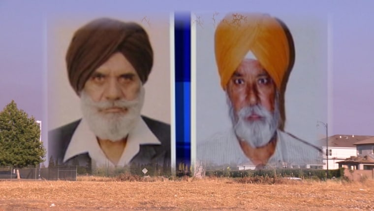 Surinder Singh and Gurmej Atwal, two Sikh-American grandfathers who were killed during a morning walk.