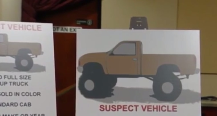 A drawing of the vehicle from which suspects allegedly shot two Sikh men.