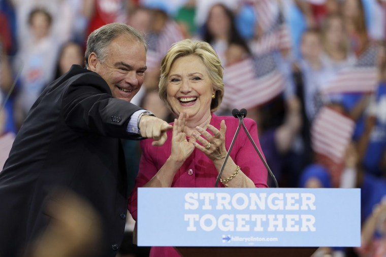 Image: Hillary Clinton, Tim Kaine