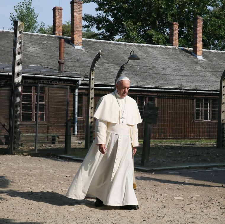 Image: Pope Francis visits Auschwitz, Oswiecim, Poland - 29 Jul 2016