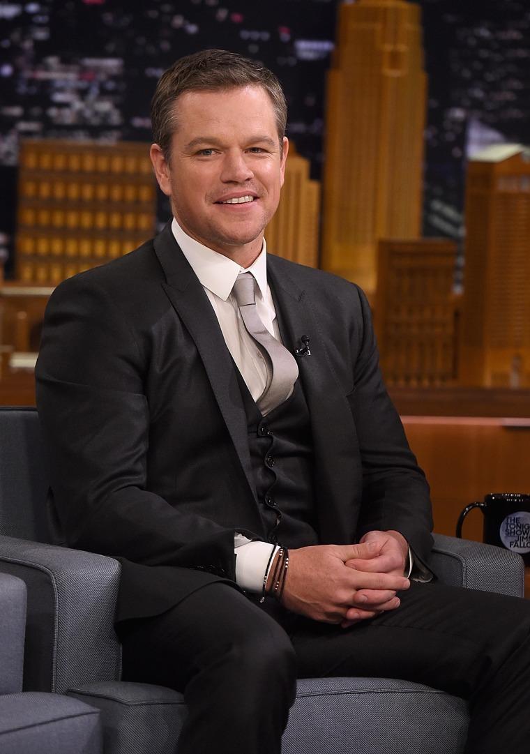 "Image: Matt Damon Visits \""The Tonight Show Starring Jimmy Fallon\"""