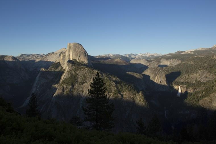 Image: The sun sets across Yosemite Valley in Yosemite National Park, California