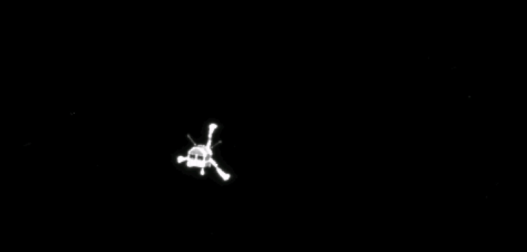 Image: A ESA handout photo taken by Rosetta's OSIRIS narrow-angle camera shows the Philae lander after separation