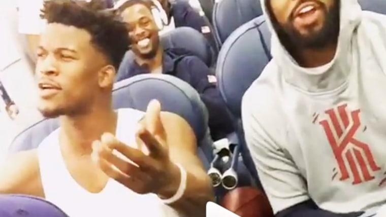USA Basketball team singing
