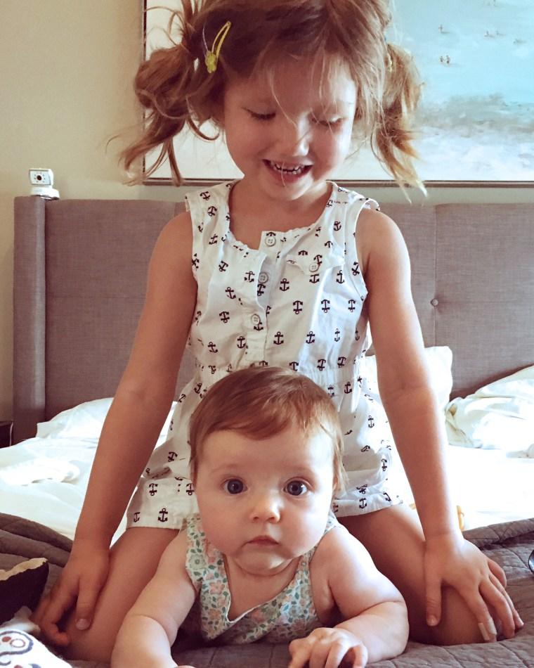 Carri Kessler's kids, Hadley and Margot