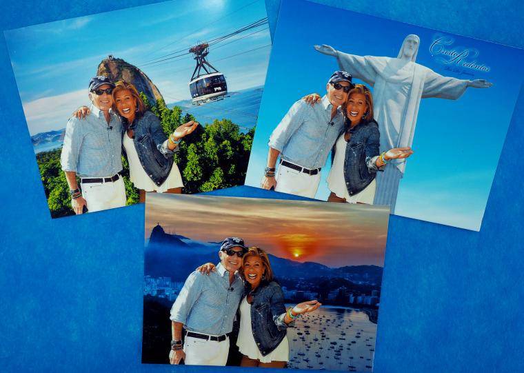 Matt Lauer and Hoda Kotb visit Sugarloaf Mountain in Rio! ?