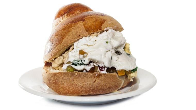 Sicilian Ice Cream Sandwich on Brioche