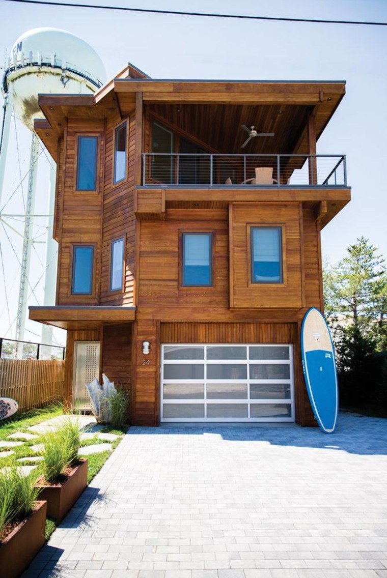 This tri-level home was built new in 2011 and even has a pool on the roof.