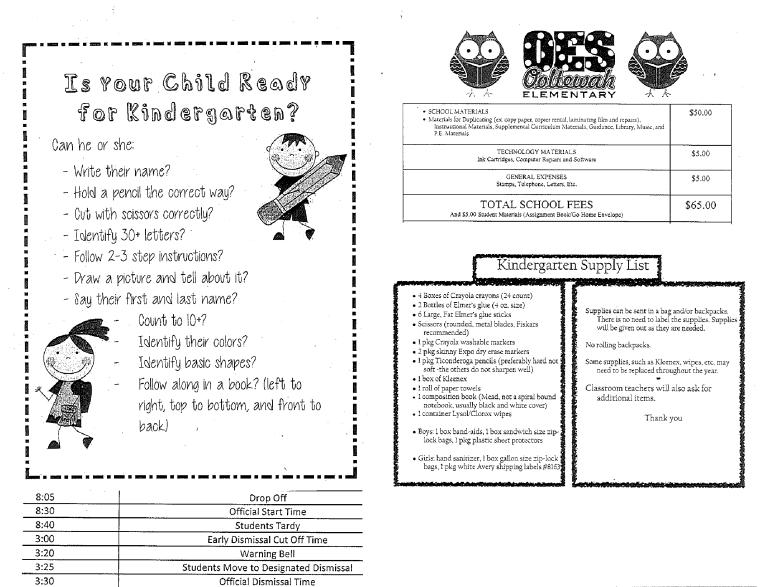 Is your child ready for kindergarten? Hamilton County, TN
