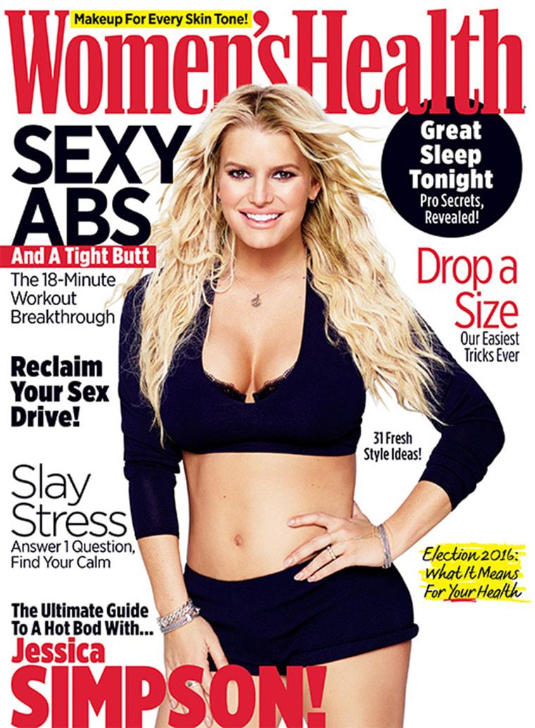 Women's Health Jessica Simpson cover