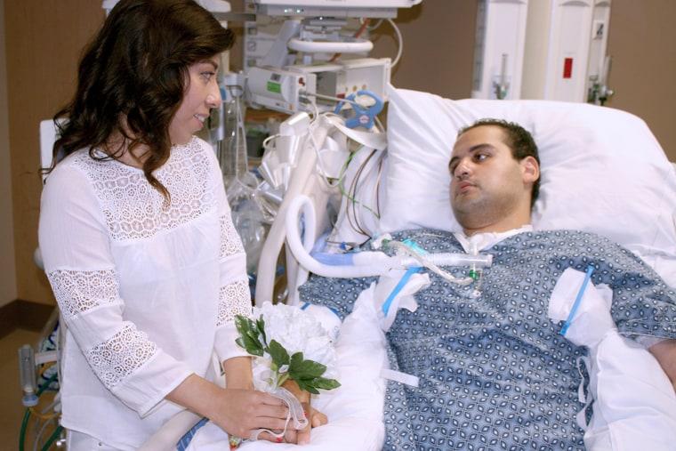 paralysis hospital wedding