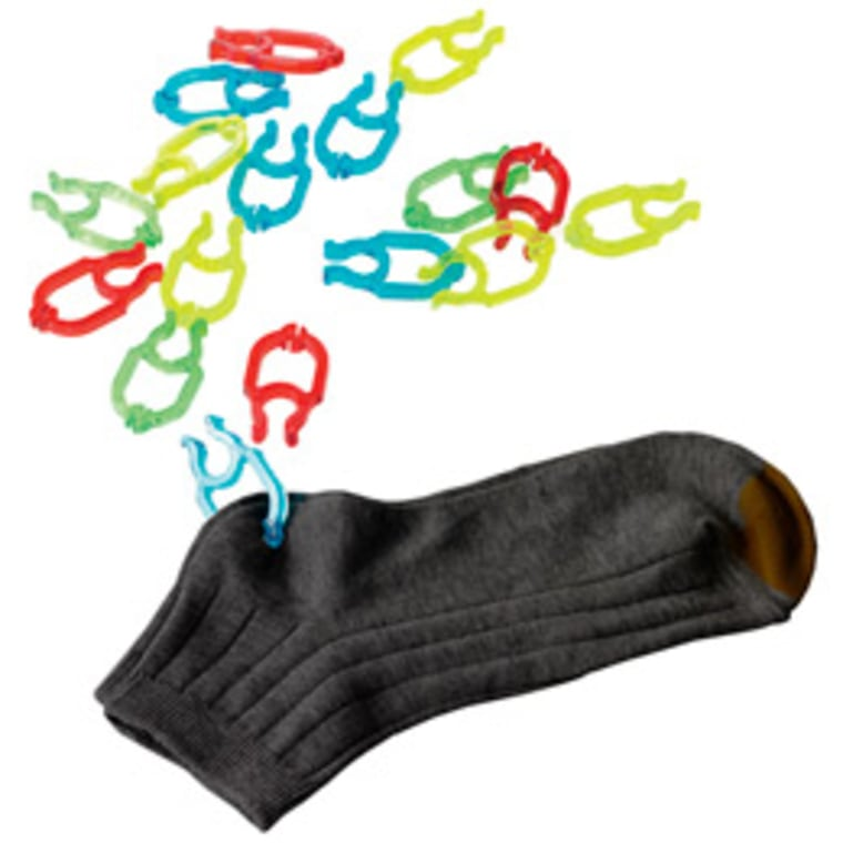 Colorful clips are an easy way to keep your socks together.