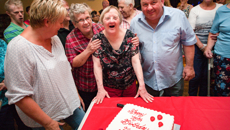 Woman believed to be oldest female with Down celebrates 75th birthday