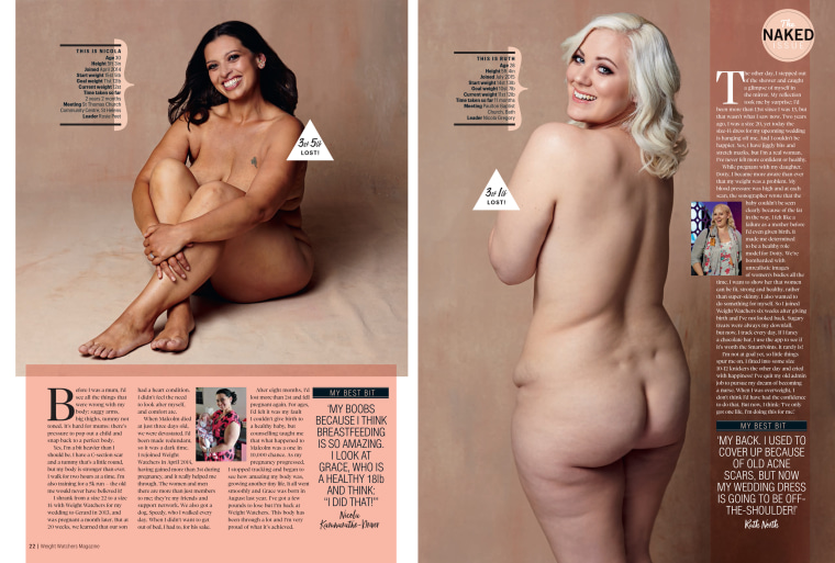 Weight Watchers Magazine's naked issue