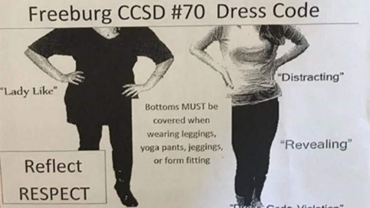Parents in Freeburg are calling the latter half of the flyer particularly sexist towards young girls and their bodies.