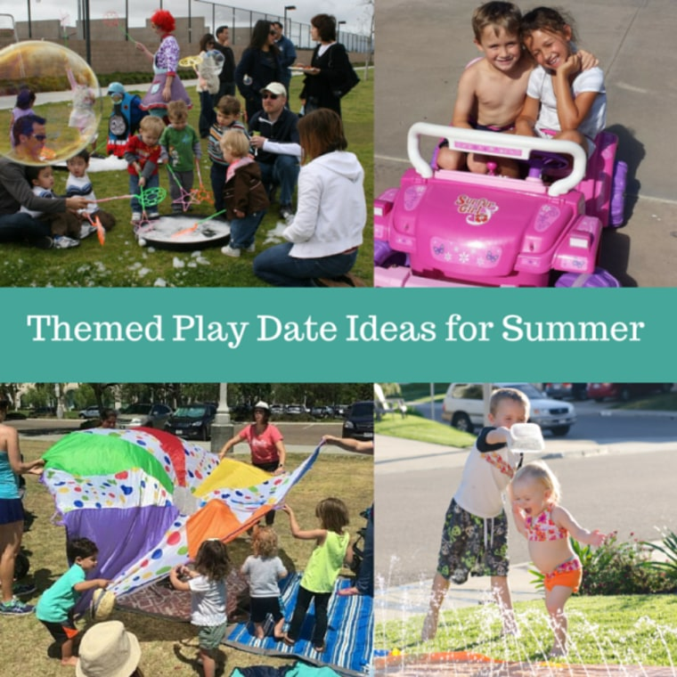 Examples of themed play dates