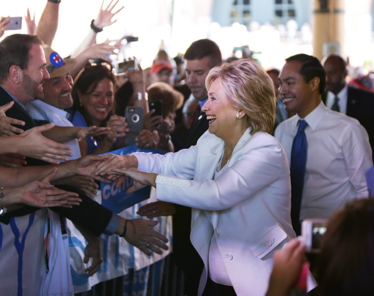 Image: Democratic U.S. presidential hopeful Hillary Clinton Hosts Latinos For Hillary Event In San Antonio