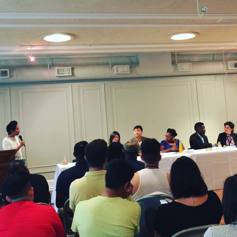 """""""What's Next for LGBTQ People of Color"""" panel in Philadelphia on July 28, 2016."""