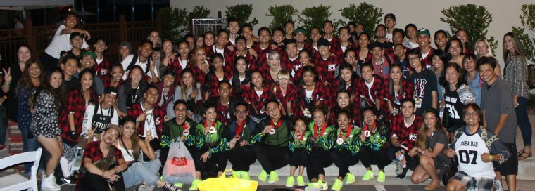 Kaba Modern Collective and Kaba Kids poses for a photo following Hip Hop International's 2015 USA Finals.