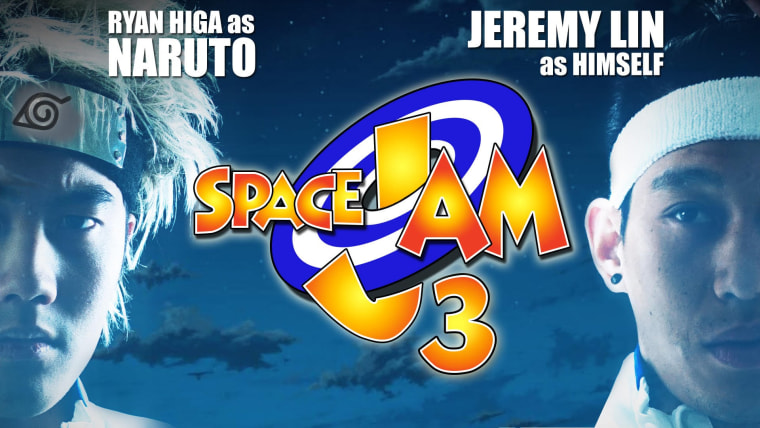 """Jeremy Lin and Ryan Higa appear in a new video parodying the movie """"Space Jam"""""""