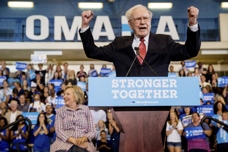Image: Hillary Clinton, Warren Buffett