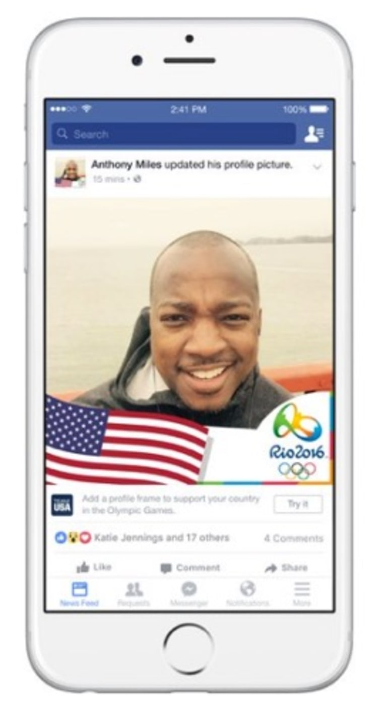 Go Team! Facebook Introduces Olympic Filters for Your Profile Picture
