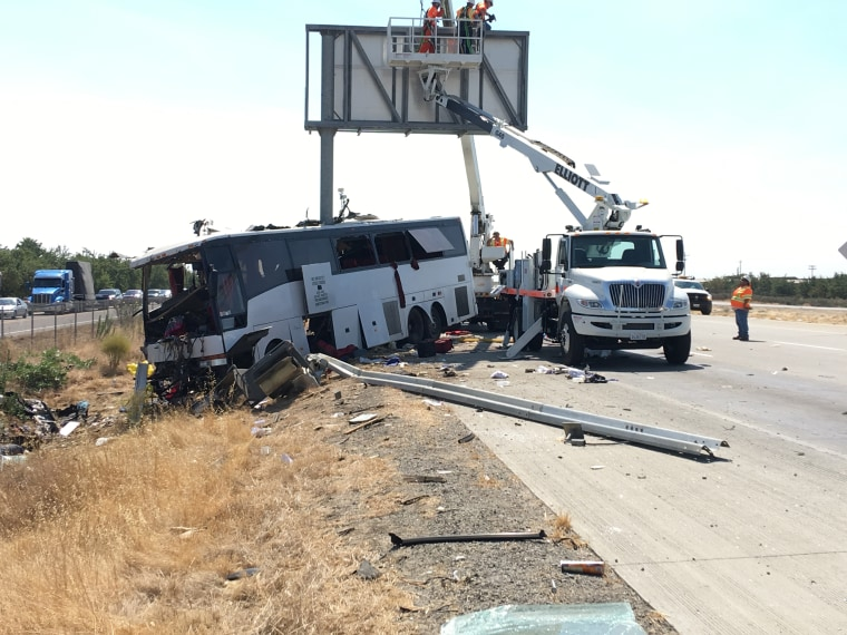 IMAGE: California bus crash