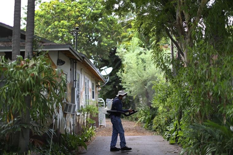 Image: Miami Dade Mosquito Patrol Goes Door To Door In Miami To Prevent Zika Spread