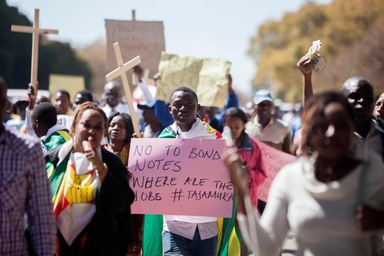 Image: TOPSHOT-ZIMBABWE-POLITICS-DEMONSTRATION
