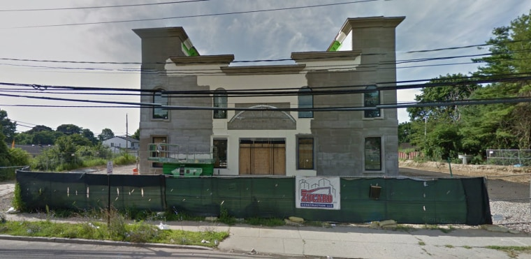 This still, taken from Google Street View, shows the site of the under-construction Sikh gurdwara in the Town of Oyster Bay, New York.