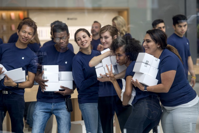 Grand Opening Of The Apple Inc. Flagship Store