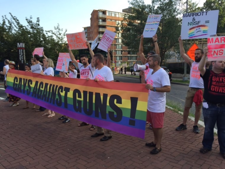 DC Chapter of Gays Against Gun protest on Tuesday August 2, 2016