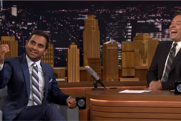 """Aziz Ansari discusses the Khizr Khan story with Jimmy Fallon on """"The Tonight Show."""""""
