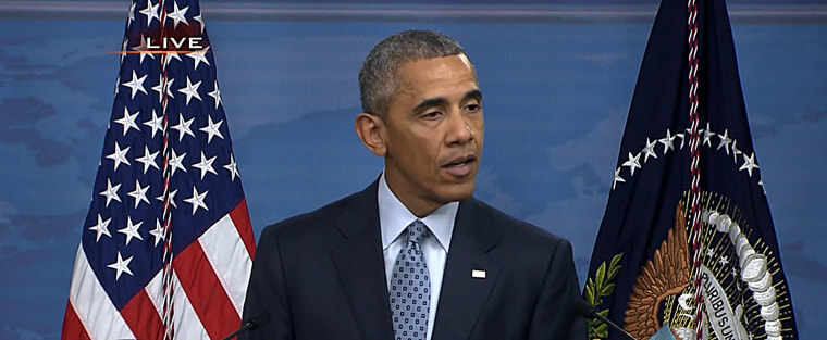 President Barack Obama at a news conference Thursday.