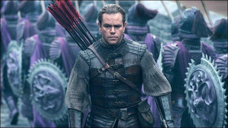 "Matt Damon in upcoming film ""The Great Wall."""
