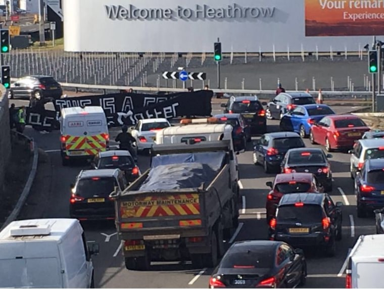 Image: Black Lives Matter U.K. protest at Heathrow