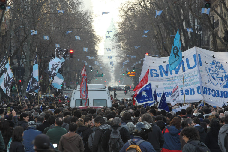 Hebe de Bonafini defies arrest warrant in Buenos Aires