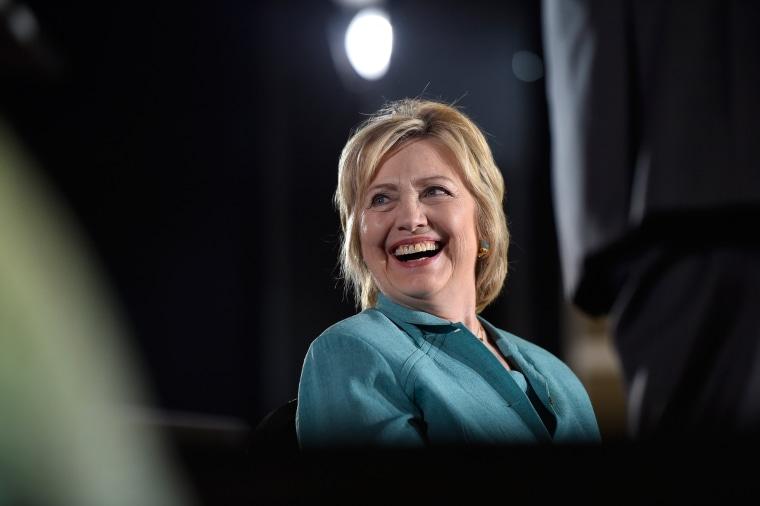 Image: Hillary Clinton Campaigns In Las Vegas