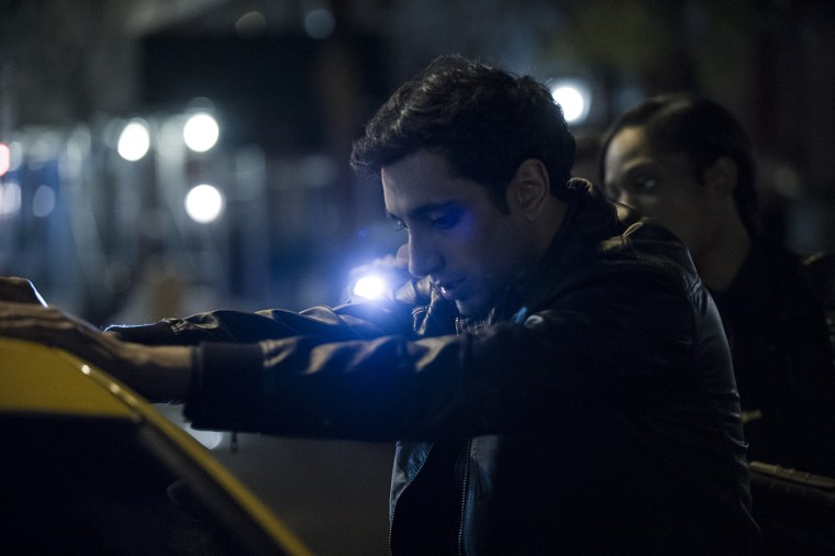 """A still taken from HBO's """"The Night Of,"""" featuring Riz Ahmed as a Pakistani-American college student accused of killing a woman in New York."""