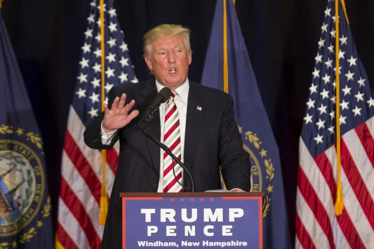 Image: Republican Candidate Donald Trump Holds Campaign Rally In Windham, New Hampshire