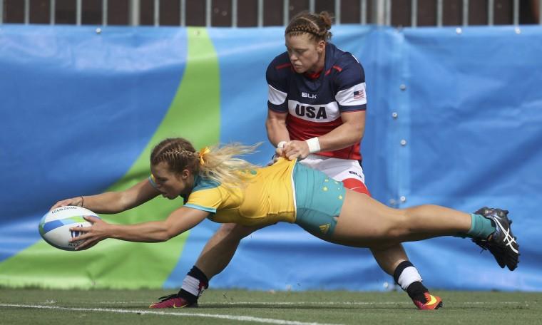Image: Rugby - Women's Pool A Australia v USA