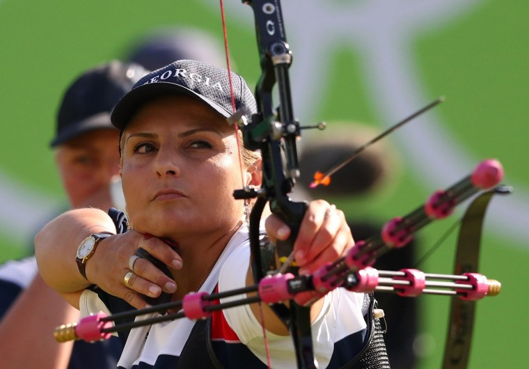 Image: 2016 Rio Olympics - Archery - Preliminary - Women's Team 1/8 Eliminations