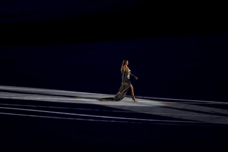 Gisele Bundchen during the opening ceremony of Rio 2016