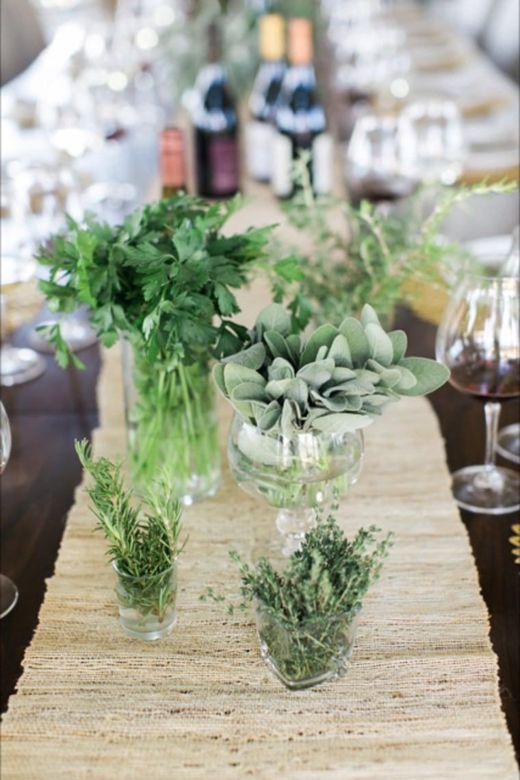Herbs centerpiece