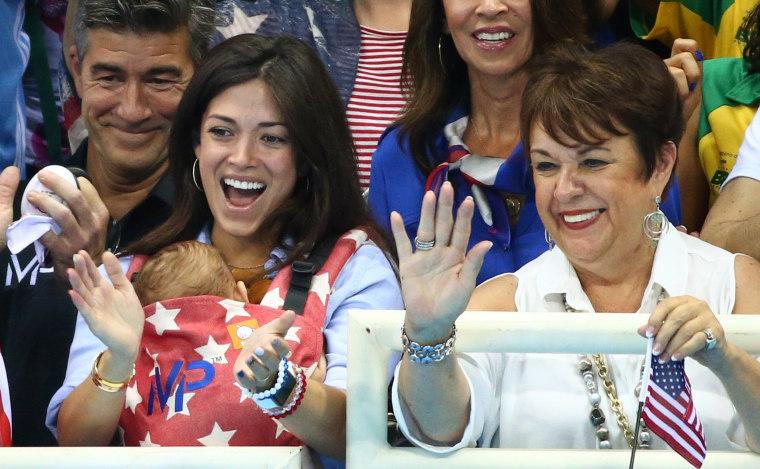 Phelps fiance, Nicole Johnson, son Boomer