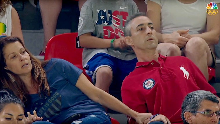 Olympics 2016: Aly Raisman's Parents Nervously Watch Gymnastics Routine