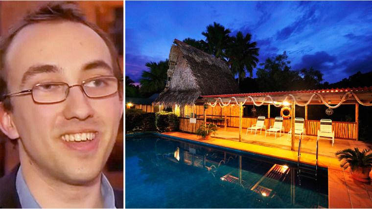 Joshua Ptasznyk wins Kosrae paradise island in raffle.