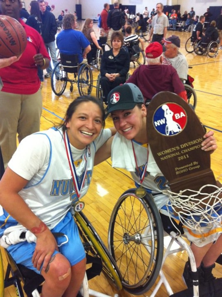 Paralympic gold medalists Alana Nichols and Patty Cisneros Prevo